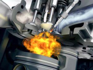 Воспламенение смеси в двигателе